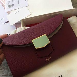 New authentic celine wallet